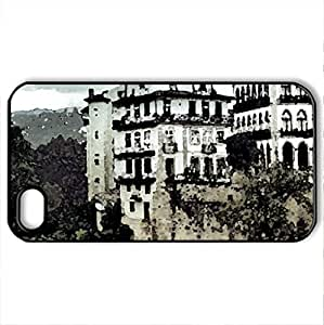 Amarante Portugal - Case Cover for iPhone 4 and 4s (Watercolor style, Black)