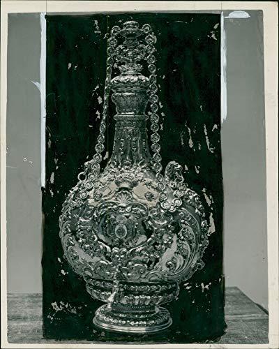 Vintage photo of Victoria and Albert Museum a gilt wine fountain (Albert Wine)