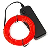 el wire red - Zitrades EL Wire Portable with Battery Pack-15ft-Red