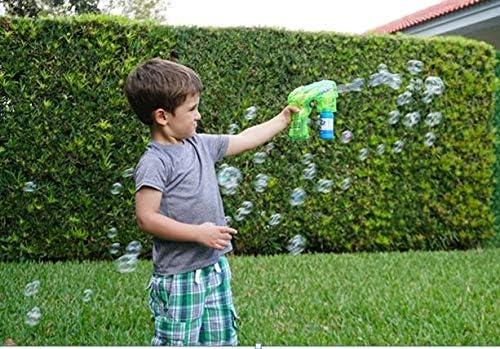 2x Little Kids fubbles Light Up Bubble Blaster Sopra toneladas de bolhas para crianças