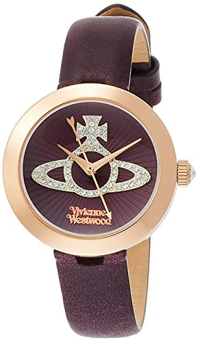 Vivienne Westwood watch Queensgate Purple Dial Purple Leather Quartz VV150RSPP Ladies