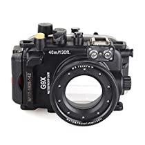 EACHSHOT 40m/130ft Underwater Diving Camera Housing for Canon G9X