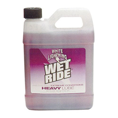 White Lightning Wet Ride Extreme Conditions Heavy Bicycle Chain Lube 32oz Quart jug
