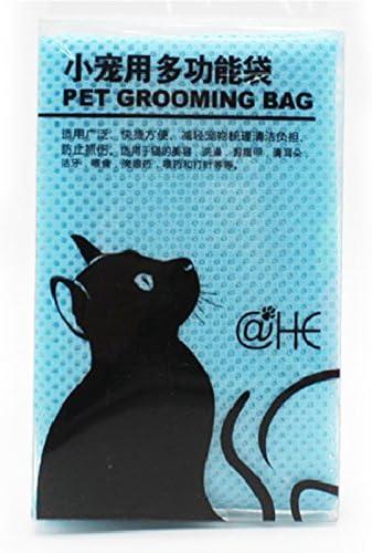 Elegantstunning funda gato Cuidado baño bolsillos Malla No Arañazos morder. Para Baden uñas recorta bi-inyección Examing azul: Amazon.es: Hogar