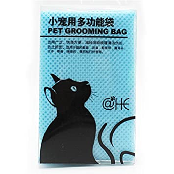Elegante Bolsa de Aseo para Gatos de Malla para Mascotas, sin arañazos, para baño, Recortar uñas, inyección, exponer: Amazon.es: Hogar