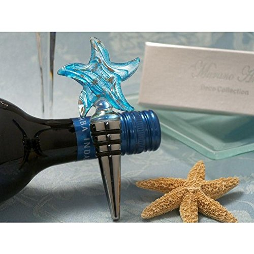 Murano Art Deco Collection Starfish Wine Stopper - 36 Pieces by Cassiani