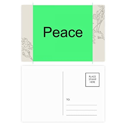 amazon com peace word inspirational quote sayings flower postcard