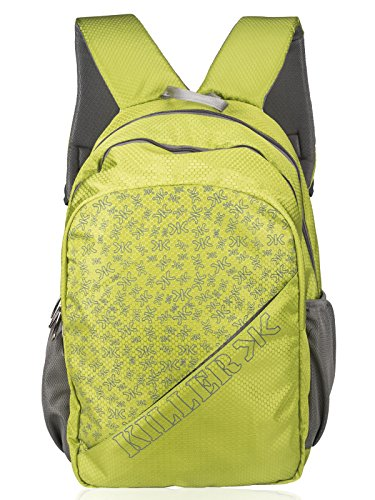 Killer ETA College Backpack   Trendy Printed Backpack   Parrot Green