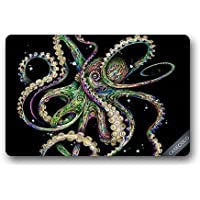 Custom Octopus Hawaii Beach Doormat Cover Rug Outdoor Indoor Floor Mats Non-Slip Machine Washable Decor Bathroom Mats