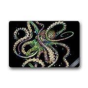 Custom Octopus Hawaii Beach Doormat Cover Rug Outdoor Indoor Floor Mats Non-Slip Machine Washable Decor Bathroom Mats