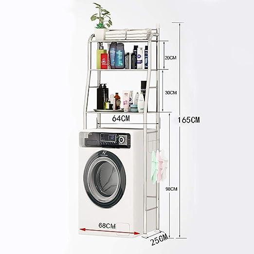 Estante de la lavadora Rack de almacenamiento para el baño de pie ...