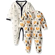 Hudson Baby Baby Cotton Union Suit, 2 Pack, Woodland Creatures, 3-6 Months
