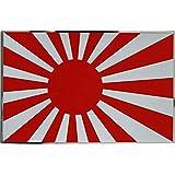 特大!十六条旭日旗 ステッカー ジャパン 銀縁