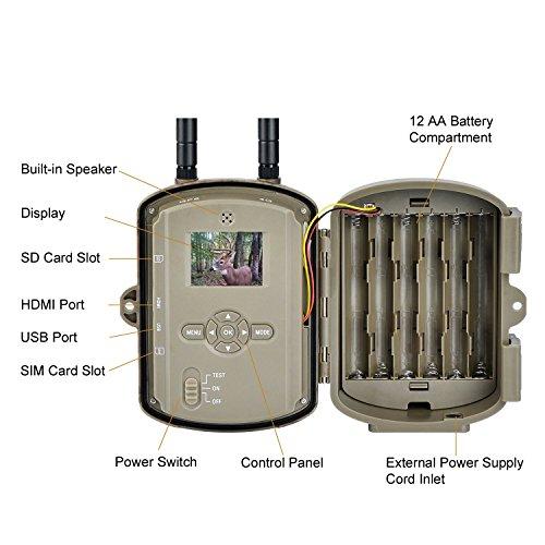 WildGuarder at&T Version 4G LTE GPS 12MP Full HD Trail Camera, Camo