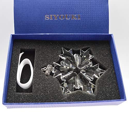 Crystal Snowflake Christmas Ornament - SIYOUKI 2018 Crystal Snowflake Christmas Decoration Star Ornament, 3