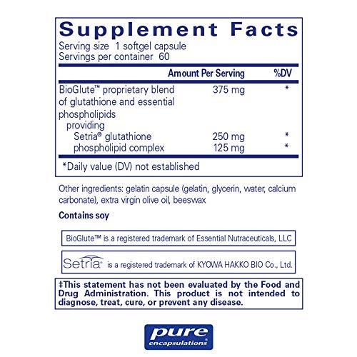 Pure Encapsulations - Liposomal Glutathione - Antioxidants, Liver Support and Detoxification* - 60 Softgel Capsules by Pure Encapsulations (Image #1)