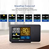 Newentor Projection Alarm Clock with Weather
