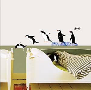 Penguin Group Dive Repositional Wall Decal