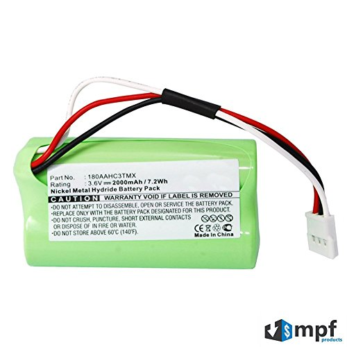 2000mAh High Capacity 180AAHC3TMX, 993-000459 Battery Replacement for Logitech S315i, S715i, Z515 Portable Speaker