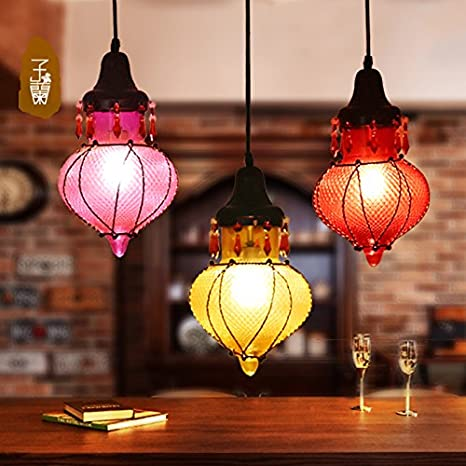 Leihongthebox lamps creative personality mediterranean colored glass leihongthebox lamps creative personality mediterranean colored glass pendant ceiling lighting 20190cm small pendant ceiling lighting aloadofball Images