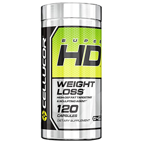 Cellucor SuperHD Thermogenic Fat Burner & Energy Booster for Men & Women, Antioxidant & Weight Loss Supplement with Nootropic Focus, 120 Capsules ()