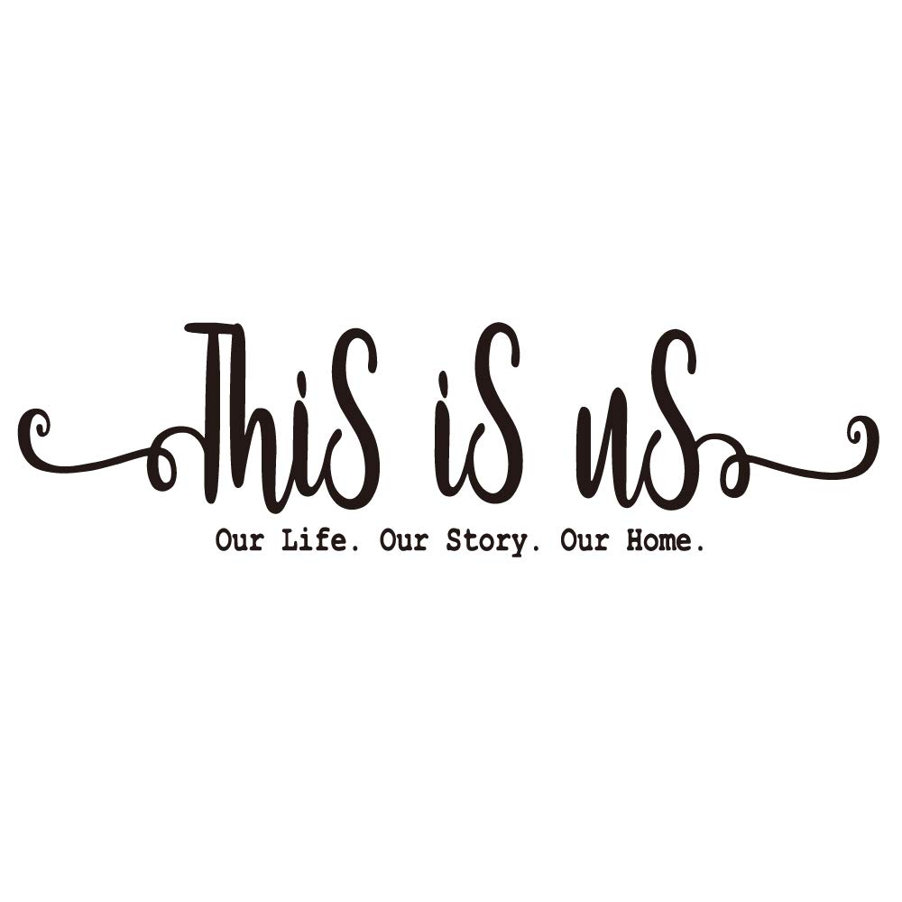 ZSSZ This is us Our Life Our Story Our Home Family Wall Decal Vinyl Quotes Wall Art Lettering Sayings Home Décor