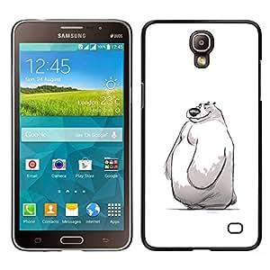 LECELL--Funda protectora / Cubierta / Piel For Samsung Galaxy Mega 2 -- niños lindos de invierno blanco bosquejo del oso polar --