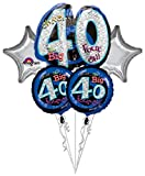 Anagram International Oh No Its My Birthday 40 Package Bouquet, Multicolor