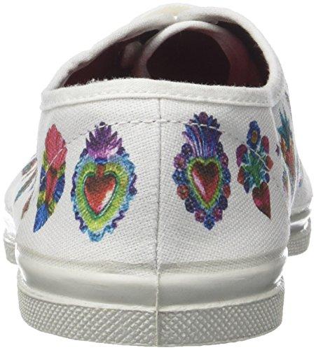 Chicano Tennis Bensimon Paco Heart Femme F15004c34b Baskets mexico Multicolore fF6qx16