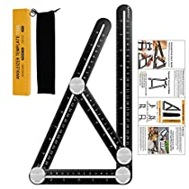 FSDUALWIN Angleizer Template Tool, Upgraded Aluminum Alloy Multi Functional Ruler,Full Metal Multi Angle Measuring Tool Perfect For Handymen, Builders, Craftsmen, Carpenters, Roofers, Tilers, Great Gift(Please choose FSDUALWIN -CA Cart)