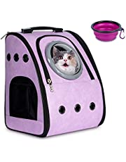 Cat Carrier Cat Backpack Carrier for 20 lbs Large Cats Pet Backpack Carrier Dog Travel Bag for Medium Small Cat Dogs Carrier for Hiking Airline Approved Pet Carrier Backpack