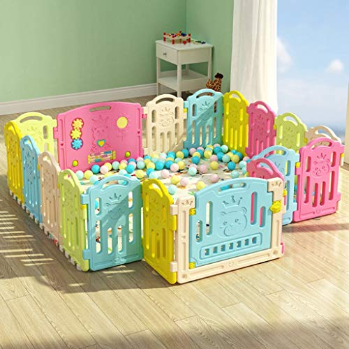 LIUFS-Fence Children's Play Fence Indoor Home Safety Crawling Mat Game Activity Center (Size : 18 Small Pieces) by LIUFS-Fence (Image #5)