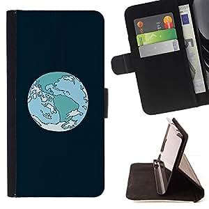 Momo Phone Case / Flip Funda de Cuero Case Cover - Órbita de la Tierra de la historieta;;;;;;;; - Samsung Galaxy J1 J100