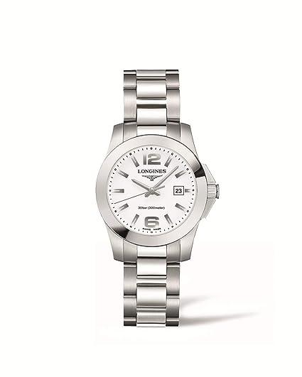 Longines Reloj Analógico para Mujer de Cuarzo con Correa en Acero Inoxidable L33764166: Amazon.es: Relojes