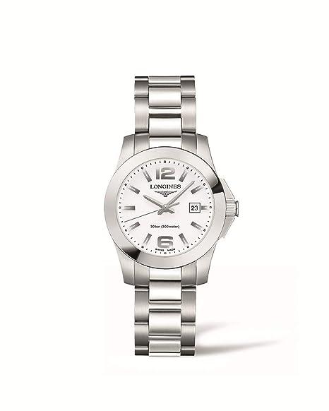 Longines Reloj Analógico para Mujer de Cuarzo con Correa en Acero Inoxidable L33764166