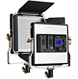 Neewer Upgraded 480 LED Panel, Dimmanable Bi-color LED Video Light with LCD Screen for Product Photography, Studio Video…