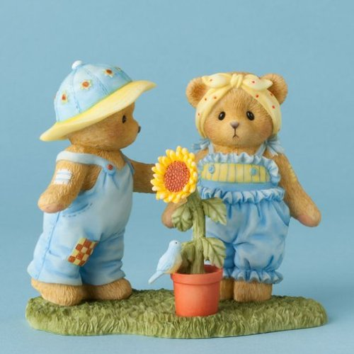 Cherished Teddies All Things Grow With Love Bear Couple with Sunflower 4037357 - Figurine Bear Cherished Teddies