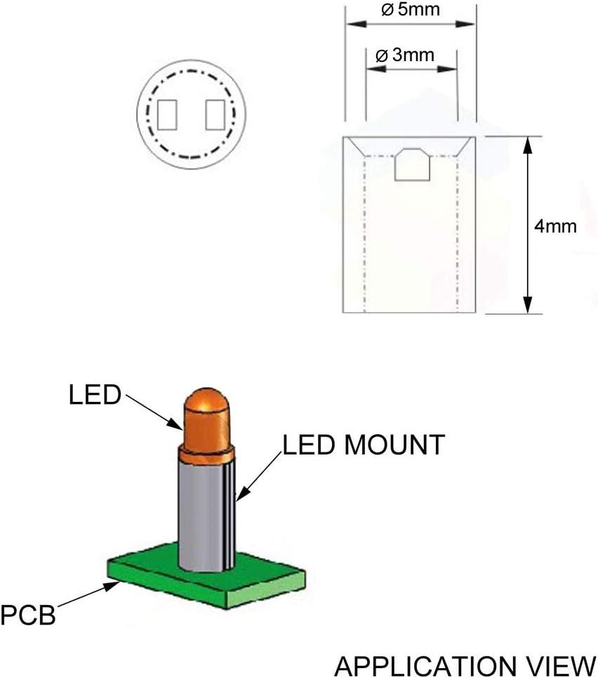 uxcell 200pcs 3x5x4mm Nylon Straight Insulating Tube PCB Pillar Standoff Spacer