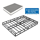 Heavy Duty 9 Inch Innovative Box Spring/Strong Steel Structure Mattress Foundation (Easy Assembly by 12 Screws) King