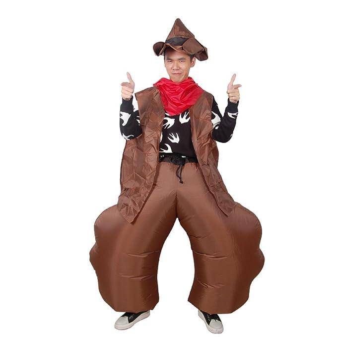 Amazon.com: SHUISHOU - Disfraz de vaquero occidental, ropa ...