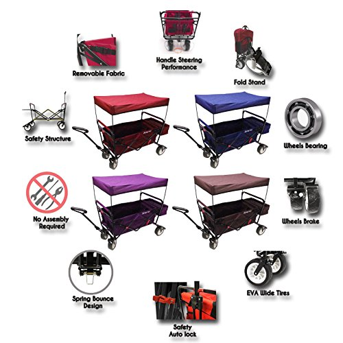The-Best-Feature-Quality-NEW-4th-GENERATION-Collapsible-Folding-Wagon-with-Canopy-and-Kids-Seat-Belt-Padded-Bottom-Auto-Safety-Locks-Spring-Bounce-Brake-Stand-EVA-Wide-Tire
