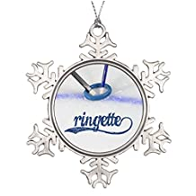 Vikefe_ety Tree Branch Decoration Ringette - Sticks in Rings Stained Glass Snowflake Ornaments Ringette