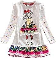 DXTON Little Girl Children Kid Long Sleeve Dresses