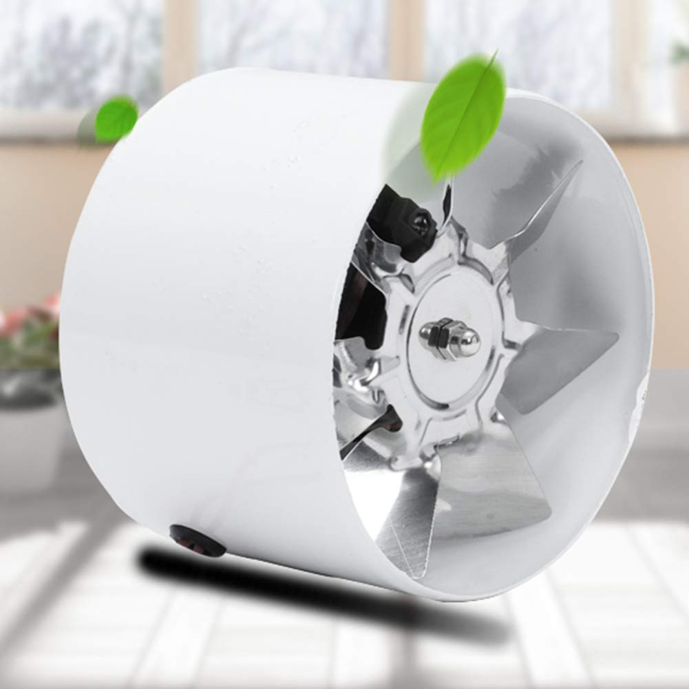 FZY-100 Faible Consommation D/énergie pour Toilettes salles de Bains et Petites pi/èces Chambres Ventilateur Dextracteur dair De Conduit 620m/³//h Ventilation Efficace Faible Bruit /Ø100mm