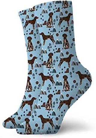 mint/_69 Calcetines cortos deportivos 30cm 11.8 pulgadas Adecuado para hombres mujeres leyhjai Braco alem/án perro de tela perros y dise/ño de senderismo tela de monta/ñas para perros