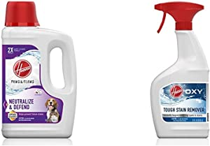 Hoover Paws & Claws Deep Cleaning Carpet Shampoo with Stainguard and Oxy Spot Stain Remover Pretreat Spray, AH30925, AH30902