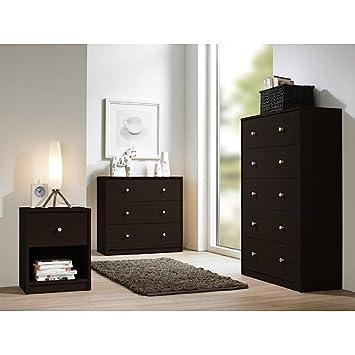 Amazon.com: Studio Collection 3-piece Bedroom Set, Coffee: Kitchen ...