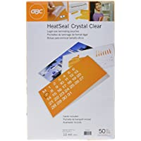 GBC Laminating Pouches / Sheets, Thermal, Legal Size, 10 mil , Heat-Seal Crystal Clear, 50 per Box (3200412)