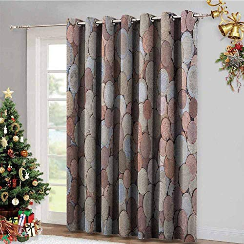 Money Gromets Curtain Decoration Window Drapes 2 Panel, Close Up Photo of Coins European Union Euros Cents on Rustic Wooden Board Soft Darkening Curtains, Bronze Silver Yellow, W72 x L84 Inches
