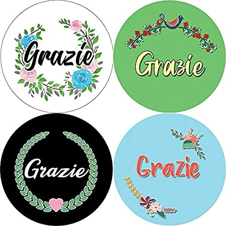 Creanoso Grazie Stickers Teens Corporate Giveaways /& Party Favors - Stocking Stuffers Premium Quality Gifts for Children 5-Sheet Adults